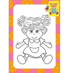 Doll toy vector image
