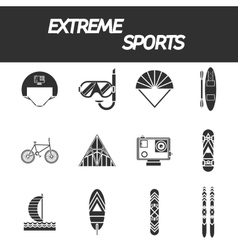 Extreme sports icon set vector image