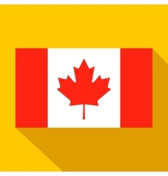 flag canada icon flat style vector image