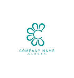 Flower c logo vector