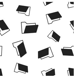 Folder document seamless pattern background vector