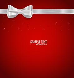 Gift bow and Shiny ribbon vector image