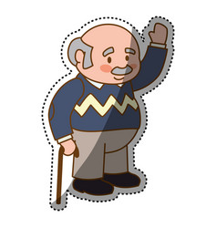grandfather adult elder cartoon vector image