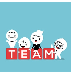 group business person with team word block vector image
