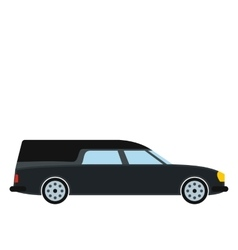 Hearse car icon vector