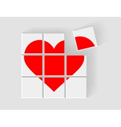 Heart consists of childrens blocks vector