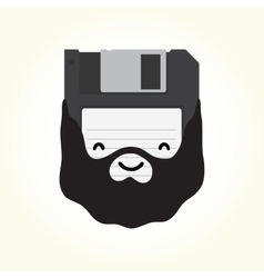 Hipster floppy disk vector image