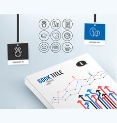 Honor shopping cart and graduation cap icons vector