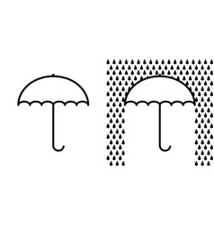 icon umbrella sign protection from rain vector image