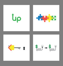 Iicon concept set up word with arrow up connected vector