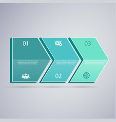 infographic 3d green arrows vector image