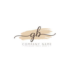 Initial letters gb logo - hand drawn signature vector