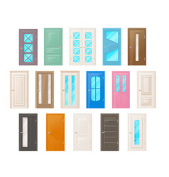 interior room doors isolated objects vector image