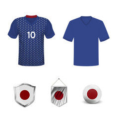 Japan soccer jersey vector