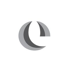 letter e simple gradient geometric logo vector image
