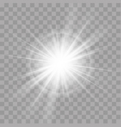 light rays flash sun star radiance shine effect vector image
