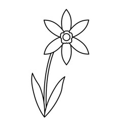 Lily petal natural style thin line vector