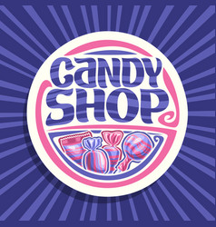 logo for candy shop vector image