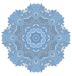 mandala blue colour circle decorative spiritual vector image