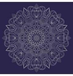 Mandala ornament Vintage decorative elements vector image