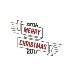 Merry Christmas typography wish sign vector image