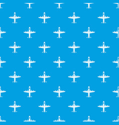 Military plane pattern seamless blue vector