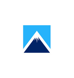 mountain logo icon design vector image
