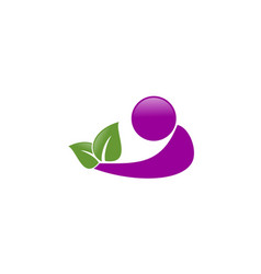 nature care human logo vector image vector image