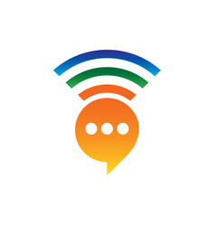 network chat icon logo image vector image