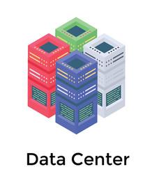 Network server rack vector