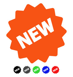 New tag flat icon vector