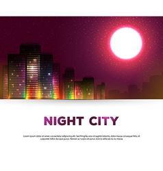Night urban city background vector