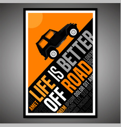 Off road poster vector