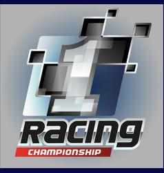 one racing symbol vector image