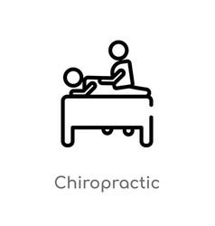 Outline chiropractic icon isolated black simple vector