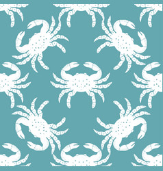 Pattern with crabs 2 vector
