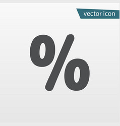 Percentage icon discount percent isolated modern vector