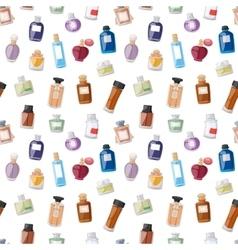 Perfume bottle seamless pattern vector