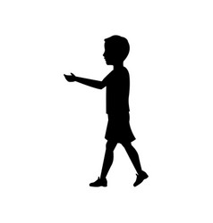 pictogram boy kid male walking vector image