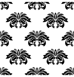 Repeat seamless pattern of arabesques vector