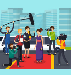 Reporters and celebrity orthogonal composition vector