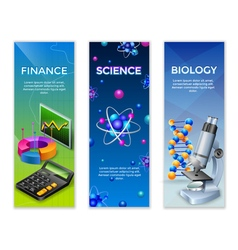 Science vertical banners set vector