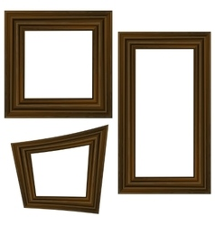 Set of Different Wooden Frames vector