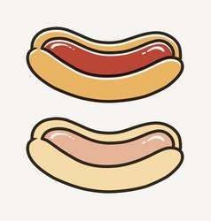 Simple iconic hotdog vector