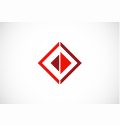 square triangle business logo vector image