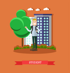 student concept in flat style vector image