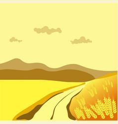 summer or autumn season wheat field valley nature vector image