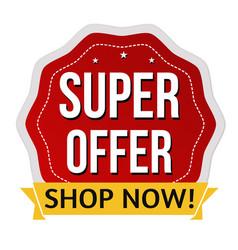 super offer label or sticker vector image