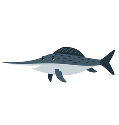 swordfish cartoon icon vector image