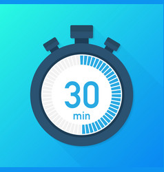 the 30 minutes stopwatch icon stopwatch icon in vector image
